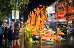 Świeczka festiwal roczny festiwal Nakhon Ratchasima Zdjęcia Stock