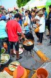 Świeczka festiwal roczny festiwal Nakhon Ratchasima Zdjęcia Royalty Free