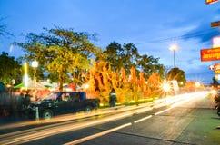 Świeczka festiwal roczny festiwal Nakhon Ratchasima Zdjęcie Royalty Free