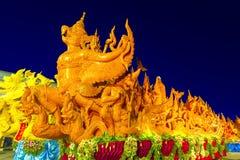 Świeczka festiwal Tajlandia Ubonratchathani Fotografia Stock