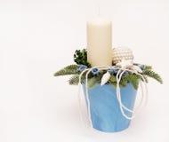 świeczka garnek Fotografia Royalty Free