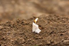 Świeczka na pogrzebie Obraz Royalty Free