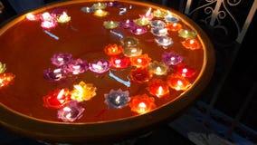 Świeczka na wodzie Obraz Stock
