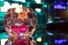 Świeczka w barze Obrazy Stock