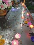 świeczka w rzece Obrazy Stock