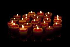 24 świeczki Zdjęcia Stock