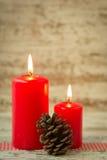 świeczki boże narodzenie Fotografia Stock
