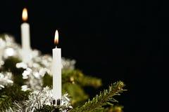 świeczki choinka dwa fotografia royalty free