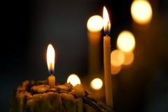 świeczki ciemne Zdjęcie Stock