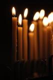 świeczki ciemne Obrazy Royalty Free