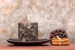 świeczki cynamonu kije Fotografia Royalty Free