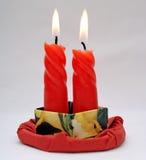 świeczki czerwone Obrazy Royalty Free