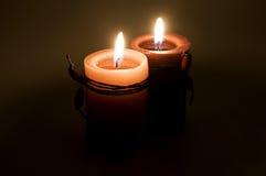 świeczki czerwone Obraz Royalty Free