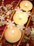 świeczki dekoracj Obrazy Stock