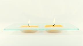 świeczki dekoracyjne Zdjęcia Royalty Free