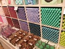 Świeczki differnet colours Zdjęcia Royalty Free