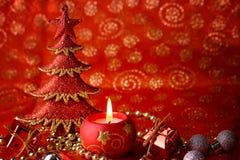 świeczki drzewa xmas Zdjęcie Royalty Free