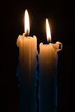 świeczki dwa Zdjęcie Royalty Free
