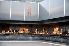 świeczki Fatima sanktuarium Zdjęcia Stock