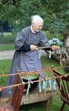 świeczki festiwalu producenta uczestnicy Zdjęcie Stock