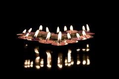 świeczki grup zdjęcia stock