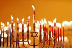 świeczki Hanukkah zdjęcia stock