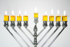 świeczki Hanukkah menorah Obraz Stock