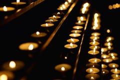 świeczki katedralne Zdjęcia Royalty Free