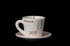 świeczki kawa obraz stock