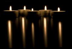 świeczki konceptualnych wizerunek Zdjęcie Stock