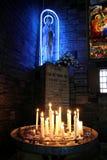 świeczki macierzystych Mary statui Zdjęcie Stock