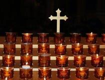świeczki modlitewne Obrazy Royalty Free