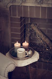 Świeczki na stolik do kawy Obraz Royalty Free