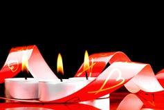 świeczki romantyczne Obrazy Royalty Free