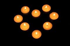 świeczki serce Obrazy Royalty Free