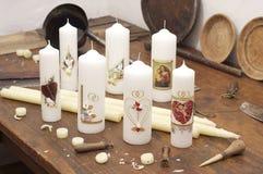 świeczki sklepu praca Fotografia Stock