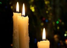 świeczki trzy Obraz Royalty Free