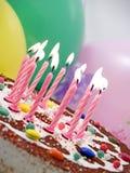 świeczki urodzinowe Obrazy Royalty Free