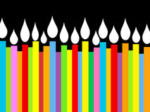 świeczki urodzinowe ilustracyjne Obraz Stock