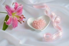 świeczki valentine Zdjęcia Royalty Free