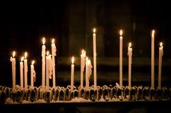 Świeczki w Duomo di Milano fotografia royalty free