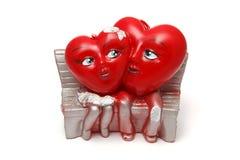 Świeczki w formie serc Obraz Stock