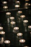Świeczki w linii Zdjęcia Stock