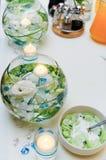 Świeczki w wodzie Zdjęcia Royalty Free