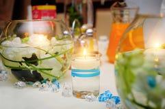 Świeczki w wodzie Zdjęcia Stock