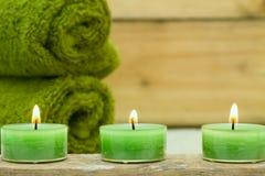 świeczki wellness Obraz Stock