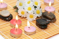 świeczki zapachowe kamyczek Fotografia Stock
