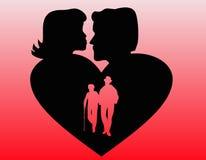 wiecznie miłość royalty ilustracja