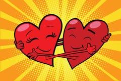Wiecznie miłości serc czerwone walentynki ilustracja wektor