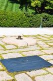 Wiecznie płomień przy John F Kennedy Doniosły miejsce przy Arlington cmentarzem Zdjęcie Stock